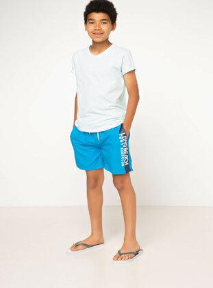 Blue - Girls` Swimsuit