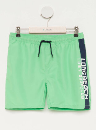 Green - Girls` Swimsuit - DeFacto
