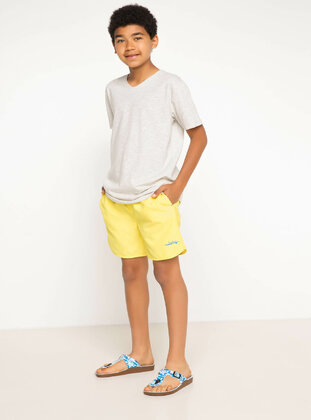 Yellow - Boys` Swimsuit - DeFacto