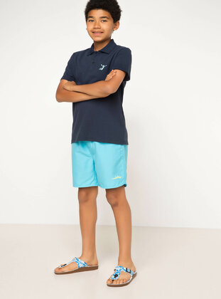 Turquoise - Boys` Swimsuit