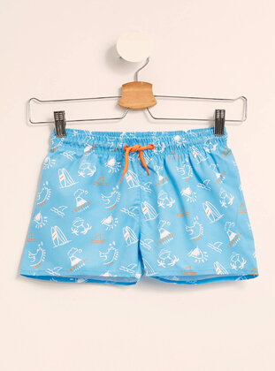 Turquoise - Boys` Swimsuit