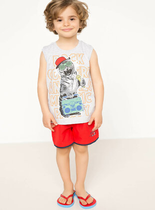 Red - Boys` Swimsuit - DeFacto