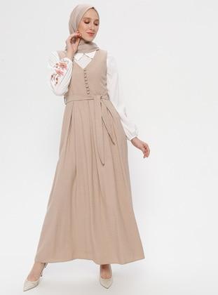 White - Beige - Unlined - Suit