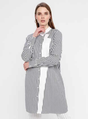 Navy Blue - Stripe - Tunic