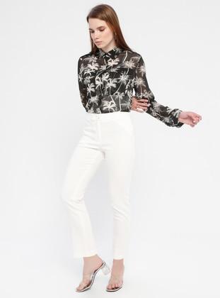 White - Cotton - Pants
