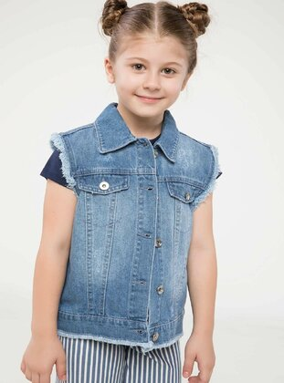 Blue - Girls` Vest