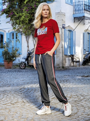 Red - Loungewear Suits - Suxe