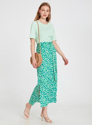 Printed - Green - Skirt