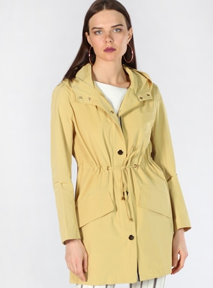 Yellow - Fully Lined - Trench Coat