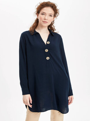 Navy Blue - Girls` Tunic