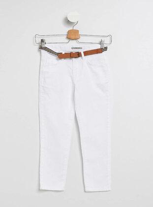 White - Girls` Pants