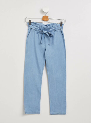 Blue - Girls` Pants - DeFacto