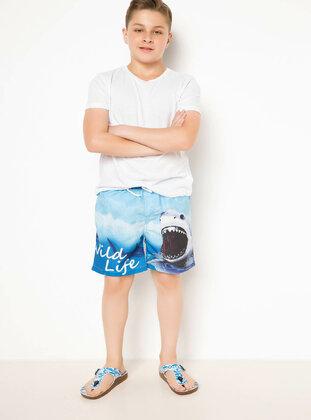 Blue - Girls` Swimsuit - DeFacto