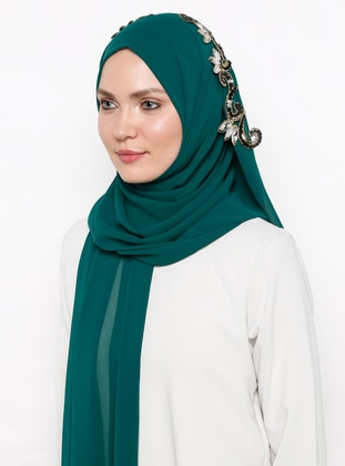 Green - Emerald - Plain - Shawl