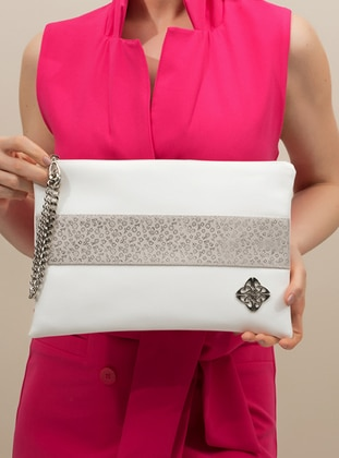 White - Clutch Bags / Handbags - Voel