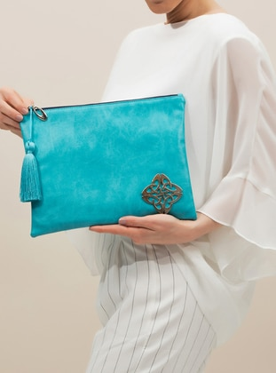 Turquoise - Clutch Bags / Handbags