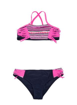 Navy Blue - Girls` Swimsuit