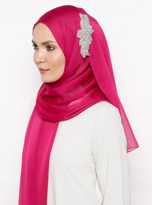 Pink - Fuchsia - Plain - Shawl