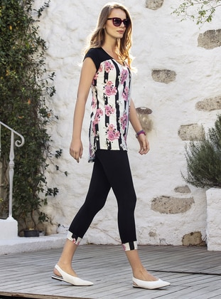 Viscose - Black - Loungewear Suits - Suxe