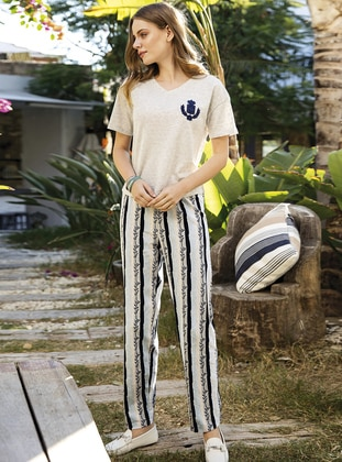 Cotton - Cream - Loungewear Suits - Suxe