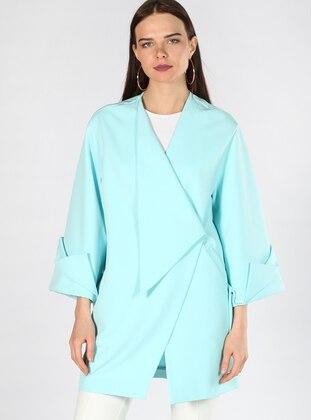 Mint - Fully Lined - V neck Collar - Topcoat