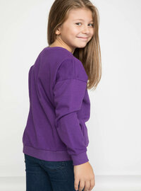 Purple - Girls` Sweatshirt
