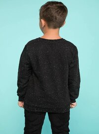 Black - Girls` Sweatshirt