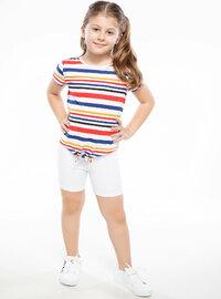 White - Girls` Shorts