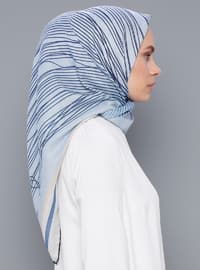 Blue - Printed - Scarf