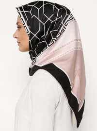 Black - Powder - Printed - Scarf