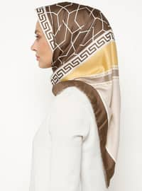 Brown - Printed - Scarf