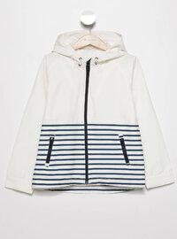 White - Girls` Raincoat