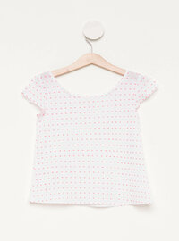 White - Girls` Blouse