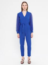 Saxe - Unlined - V neck Collar - Jumpsuit