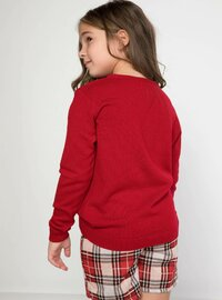 Red - Girls` Pullovers