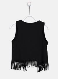Black - Girls` Vest