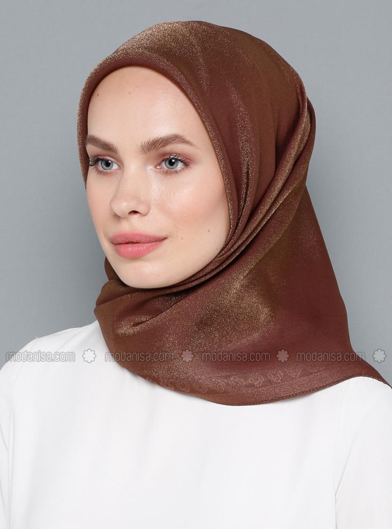 Brown - Plain - Scarf