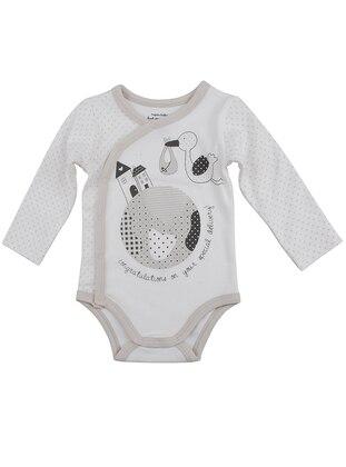 Multi - Crew neck - Cotton - Ecru - Baby Body