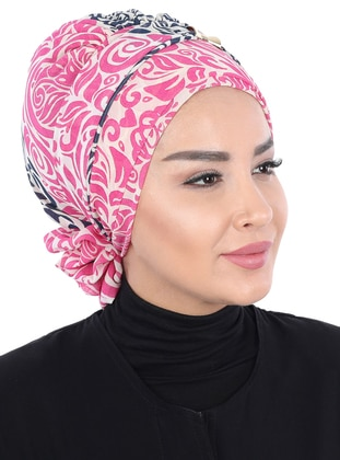 Fuchsia - Printed - Instant Scarf