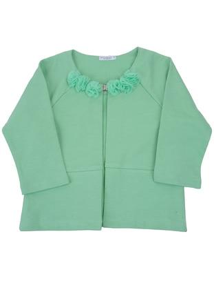 Cotton - Green - Girls` Cardigan