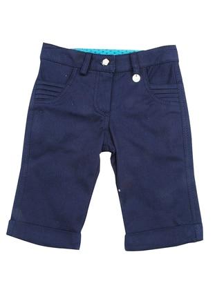 Cotton - Navy Blue - Girls` Pants
