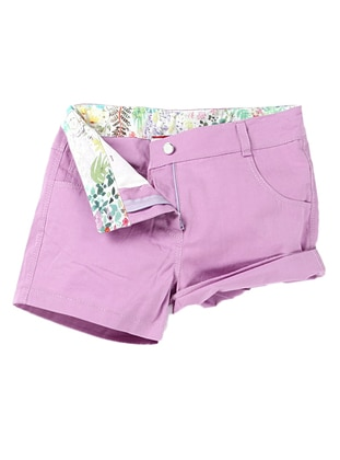 - Unlined - Lilac - Girls` Shorts