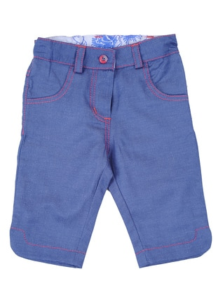 Cotton - Blue - Girls` Shorts