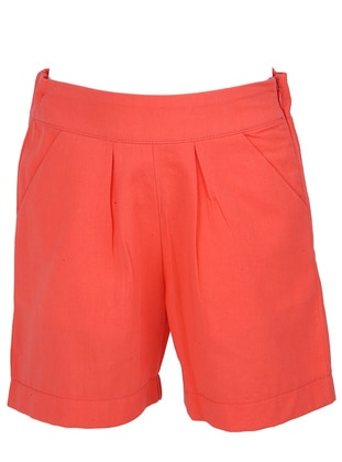 Cotton - Orange - Girls` Shorts