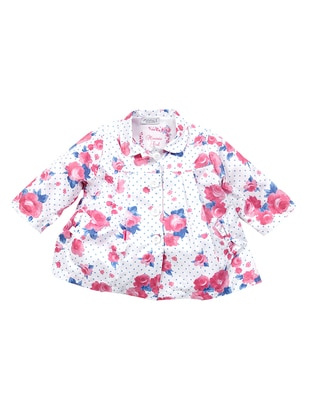 Multi - Round Collar - Multi - Girls` Raincoat - Zeyland