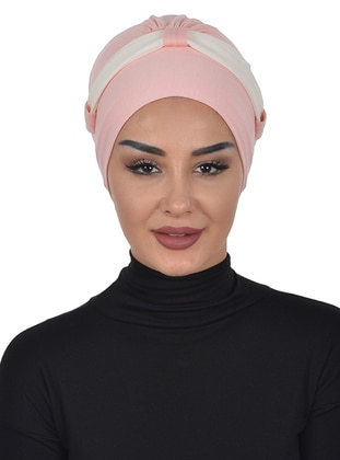 Powder - Cream - Plain - Cotton - Chiffon - Bonnet