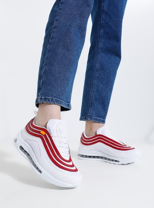 Red - White - Sport - Sports Shoes