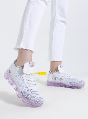 White - Purple - Sport - Sports Shoes