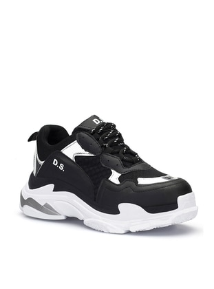 Black - Silver tone - Sport - Sports Shoes
