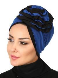 Black - Saxe - Plain - Cotton - Chiffon - Bonnet